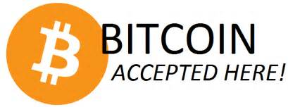 We Accept Crypto Currencies